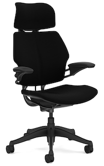 Freedom Task Chair with Headrest, Corde 4 Black