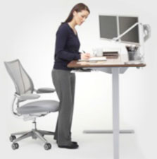 Humanscale Sit Stand Desk Converters and Risers