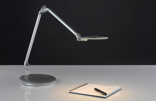 Element disc led task lighting from humanscale for Best task lighting