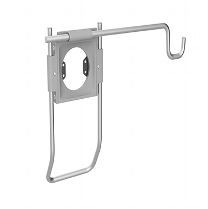 Accessory Holder with Handle and Universal Accessory Bracket, Silver