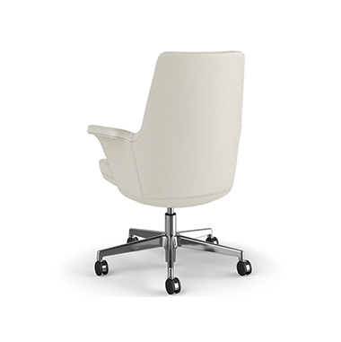 Summa Chair with Upholstered Leather Back in Glacier - Ticino (Chrome-Free Leather) Picture 3