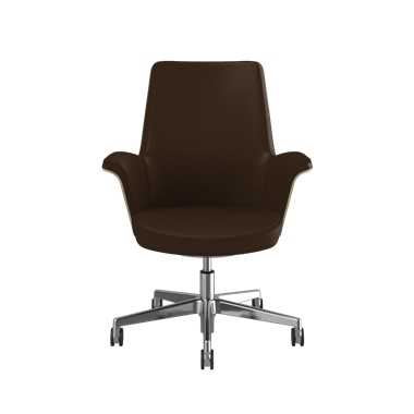 Summa Chair with Anegre Wood Back and Canyon - Ticino (Chrome-Free Leather) Picture 2