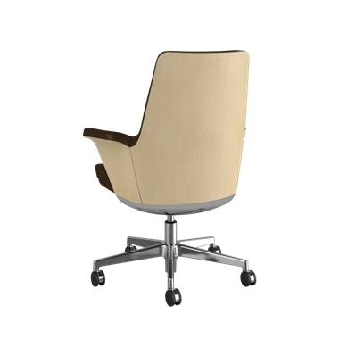 Summa Chair with Anegre Wood Back and Canyon - Ticino (Chrome-Free Leather) Picture 3