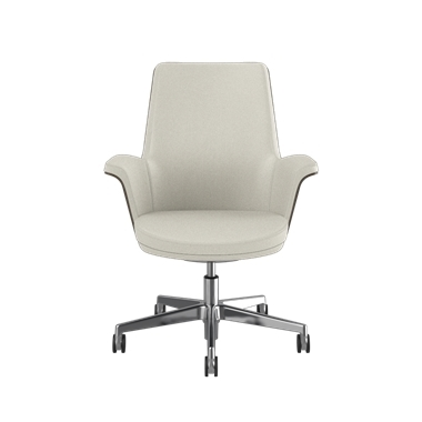Summa Chair with Walnut Wood Back and Glacier - Ticino (Chrome-Free Leather) Picture 2