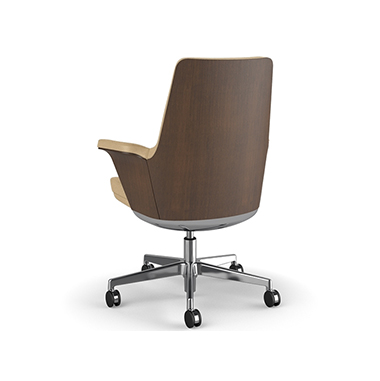 Summa Chair with Walnut Wood Back and Sand - Ticino (Chrome-Free Leather) Picture 3