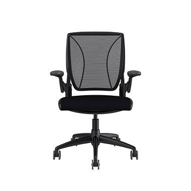 Diffrient World Chair, Monofilament Stripe Black Back, Corde 4 Black Seat Picture 2