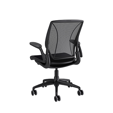 Diffrient World Chair, Monofilament Stripe Black Back, Corde 4 Black Seat Picture 3