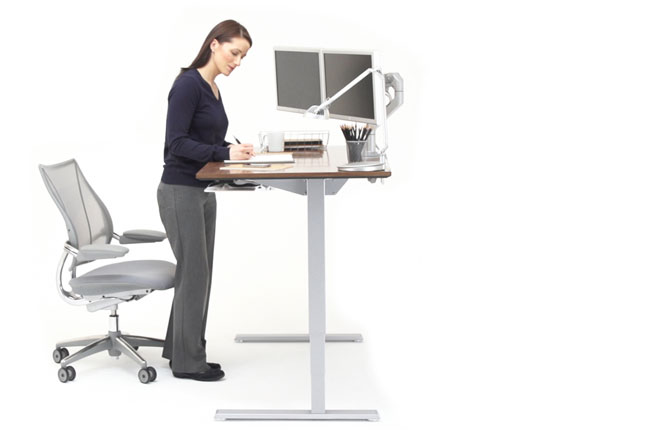 Float Humanscale S Height Adjustable Sit Stand Table