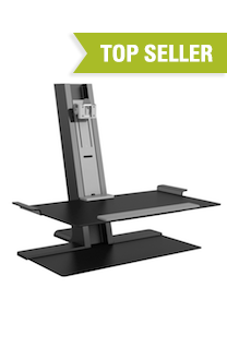QuickStand Heavy Mount with Large Platform, FreeStanding Base, Black