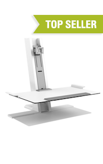 QuickStand Heavy Mount with Large Platform, FreeStanding Base, White