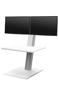 QuickStand Eco, Dual Monitor, White