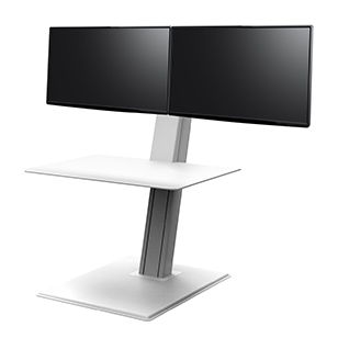QuickStand Eco, Dual Monitor, White - SE